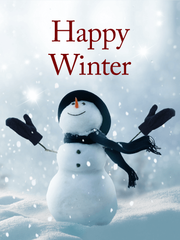 happy snowman winter card birthday amp greeting cards by davia