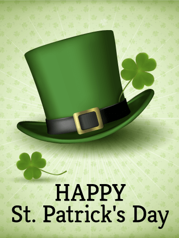 Leprechaun Hat St. Patrick's Day Card   Birthday ...