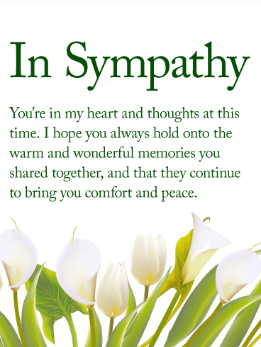 You are in my Heart - Sympathy Card | Birthday & Greeting Cards by ...
