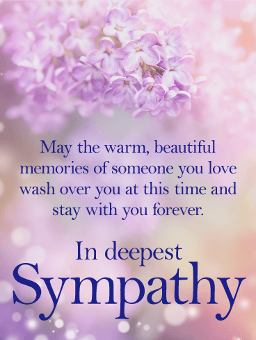 Stay With You Forever Sympathy Card Birthday