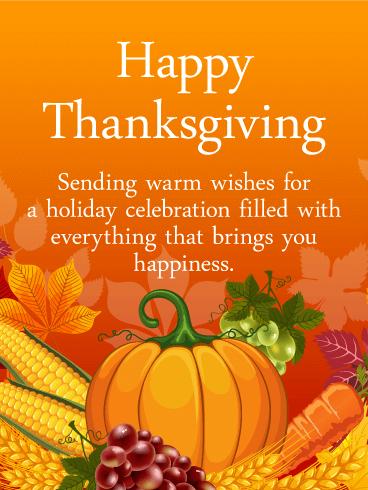 Heartfelt Thanksgiving Card | Birthday & Greeting Cards By