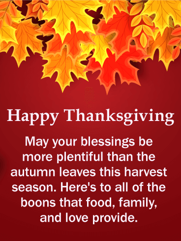 Autumn Color Happy Thanksgiving Card Birthday Amp Greeting