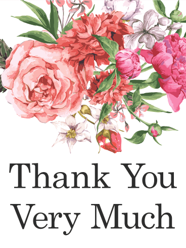 Beautiful Thank You Cards pink flower thank you card | birthday & greeting cardsdavia