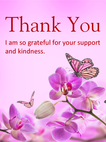 purple flower thank you card birthday amp greeting cards