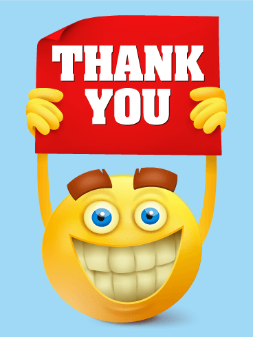 Smiley Face Thank You Card | Birthday & Greeting Cards by ...