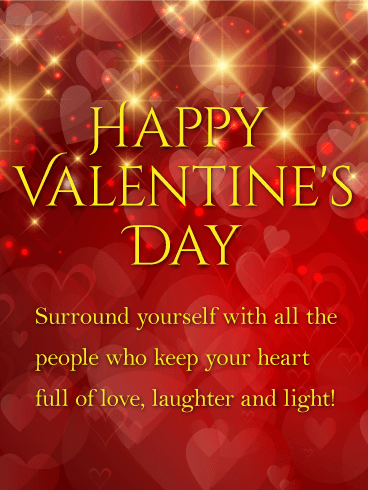 Laughter And Light Shining Happy Valentine S Day Card