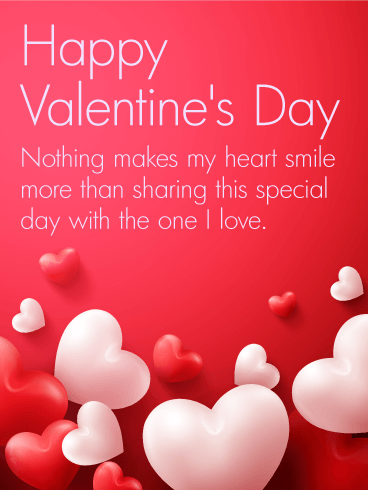 To the one i love happy valentine 39 s day card birthday for Nice things to do for valentines day
