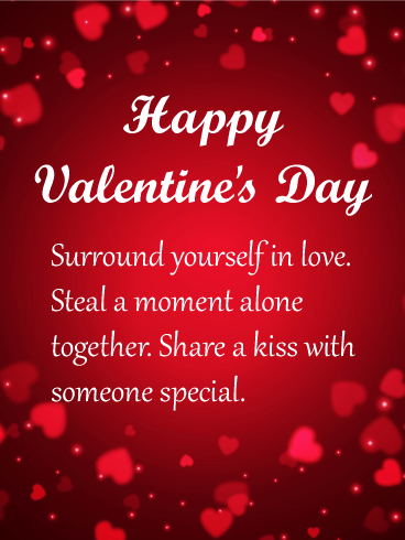 Surround Yourself In Love Happy Valentine S Day Card